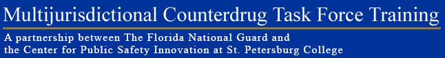 Multijurisdictional Counterdrug Task Force Training